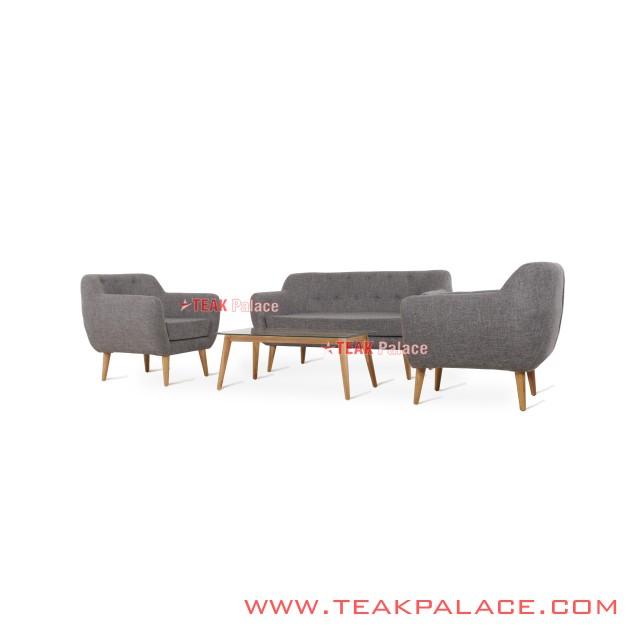 Sofa Retro Modern 211 Grey Seri Dina