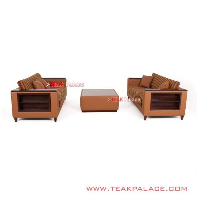 Sofa Set Modern Minimalist Teak Black Walnut Lines series