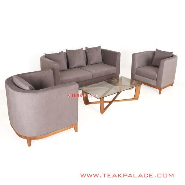 Set Sofa Minimalis 311 Kayu Jati Seri Kemang