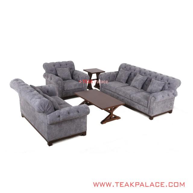 Kursi Sofa Set 321 Meja Tamu dan Meja Sudut Seri Robinson