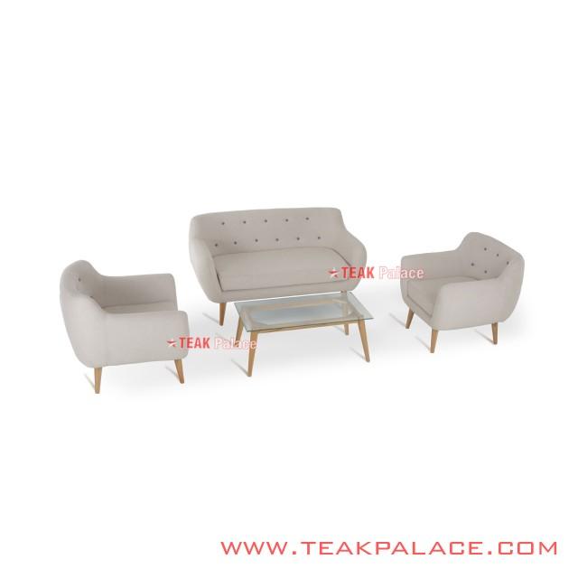 Sofa Vintage Retro Modern 211 Seri Dina White