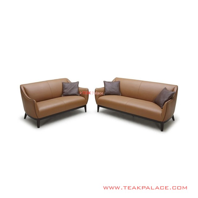 Sofa Set Seri Viana Oscar Brown Minimalis Jati