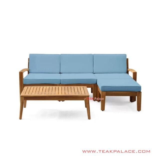 Set Sofa Teras Santai Minimalis Blue Stool Tasikmalaya