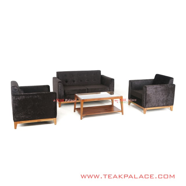 Sofa Minimalis Set 211 Seri Riau Hitam