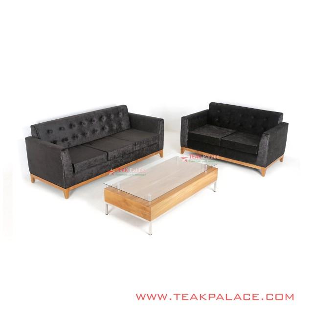 Sofa Minimalis Set 321 Meja Kaca Seri Riau