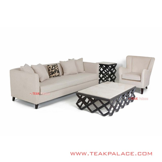 Accent Sofa Set 31 Cream