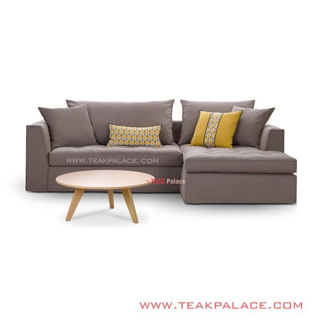 Sofa Sudut L Minimalis Seri Scarlet 2 Sofa + Meja