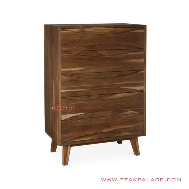 Minimalist Teak Wood Drawer Buffet Series Dominic