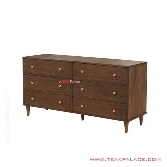 Minimalist Drawer Buffet Teak Salak Brown Liverpool Series
