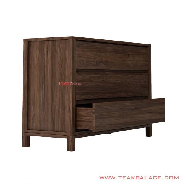 Aland Drawer Cabinets Teak Wood Salak Brown