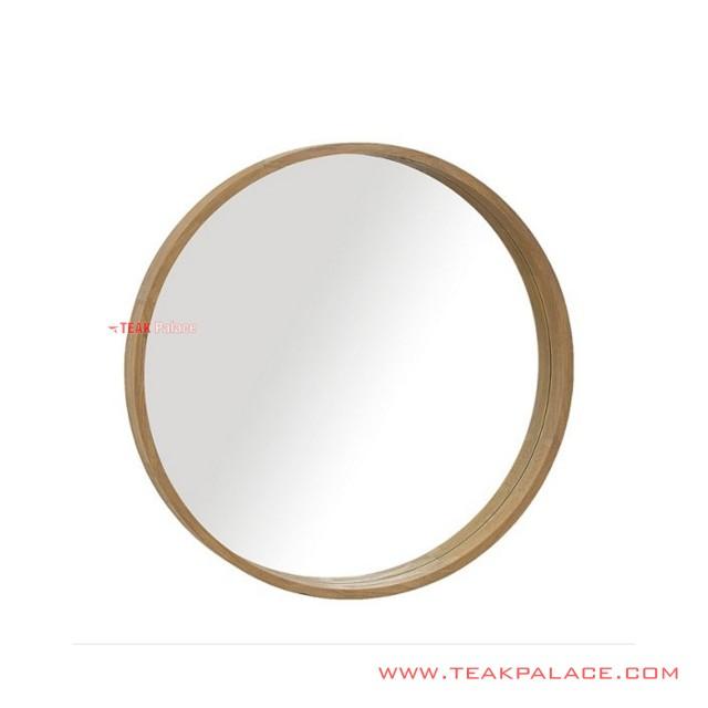 Mirror Minimalist Round Wall Mirror Capri Series Natural
