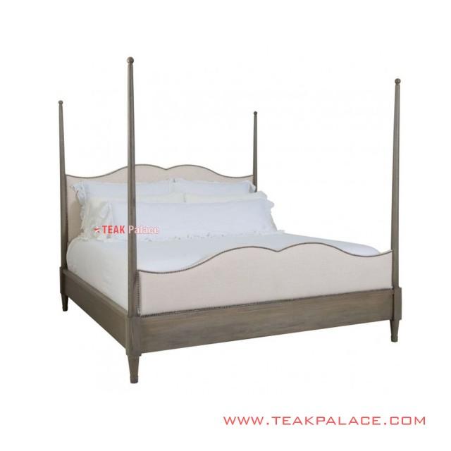 Tempat Tidur Minimalis Kayu Jati Modern Seri Silo