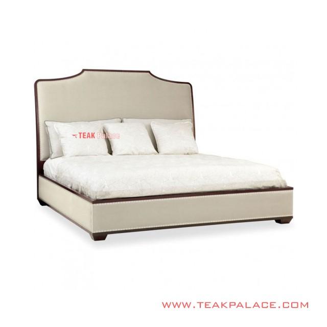 Tempat Tidur Mewah Minimalis Kayu Jati Seri Grand