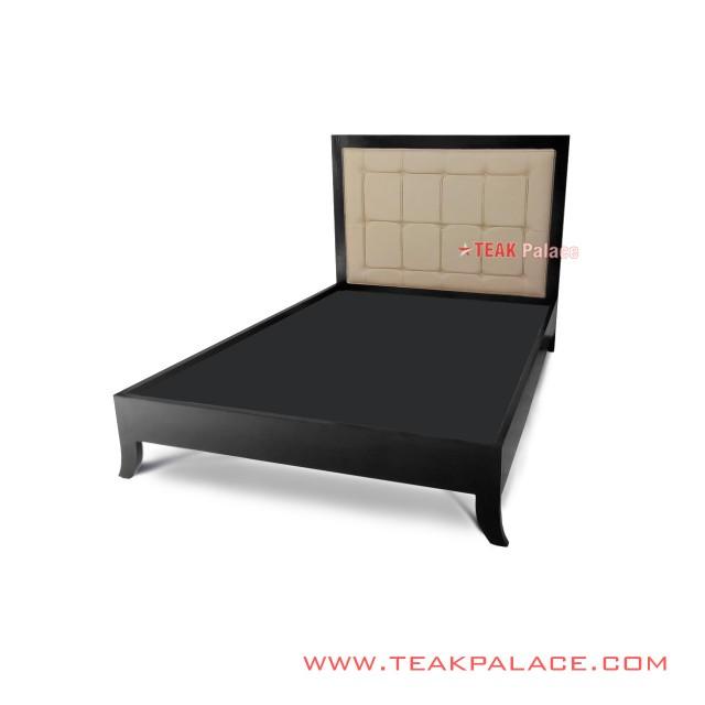Single Bed With Oscar Cream Teak Manado