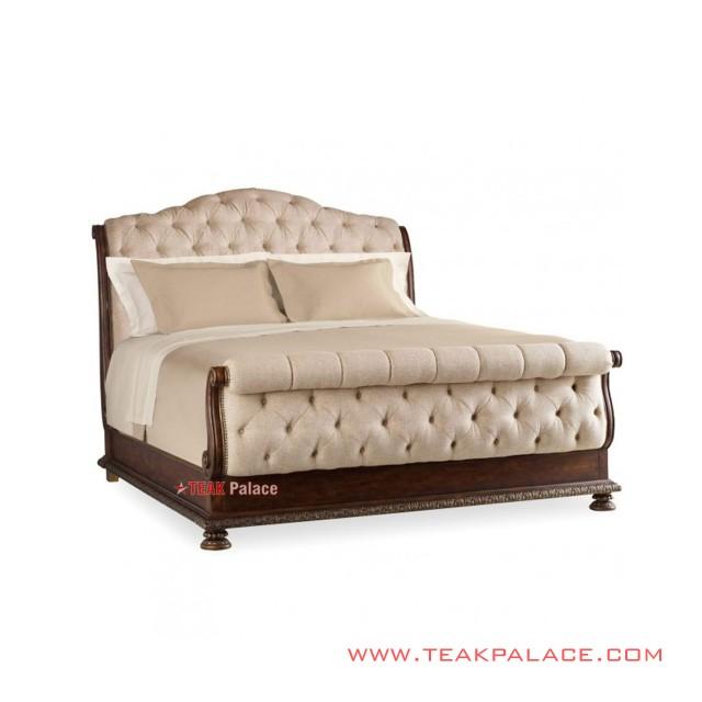 Modern bed Rivoli Linen Laura Series