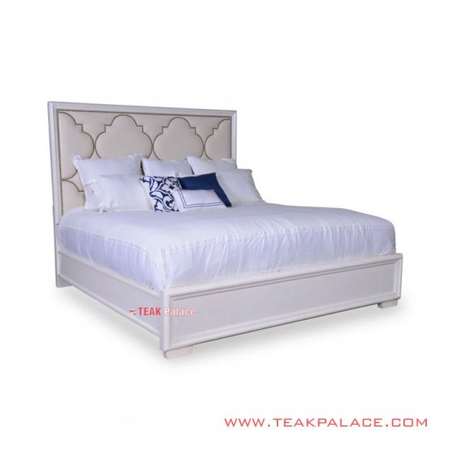 Bed Minimalist White Raffi Series
