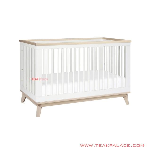 Tempat Tidur Bayi Box Seri Jennie Minimalis Duco Putih