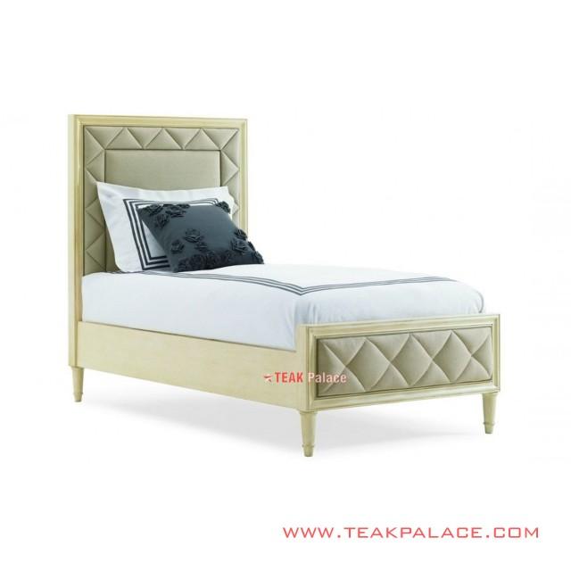 Tempat Tidur Single Modern Putih Seri Melisa