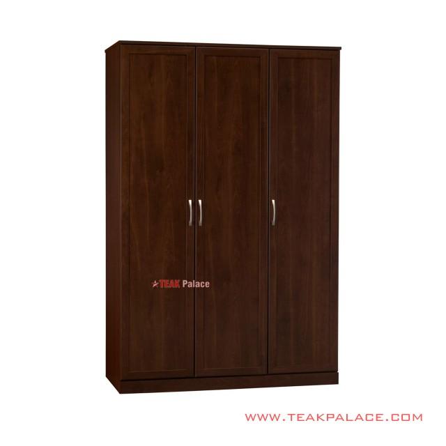 Lemari Pakaian Kayu Jati Minimalis 3 Pintu Murah Seri Dilan