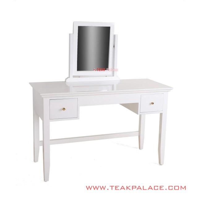 Meja Rias Minimalis Warna Putih Duco