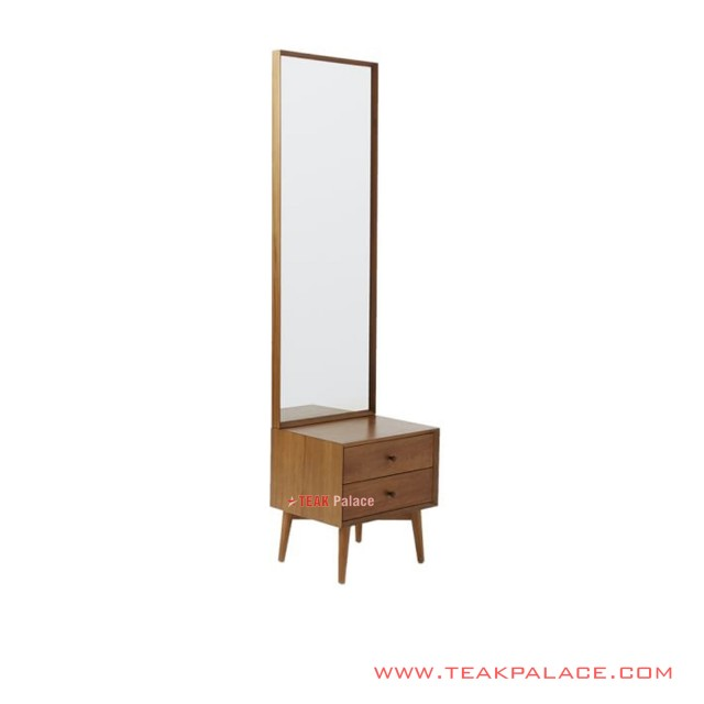 Nightstand with Mirror minimalist Bafilo Salak Brown