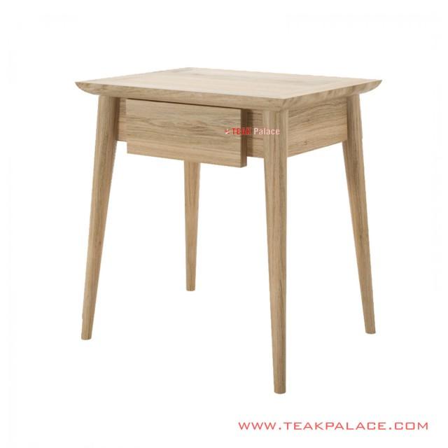 Albury Nightstand Table Drawer Albury Natural Teak Wood