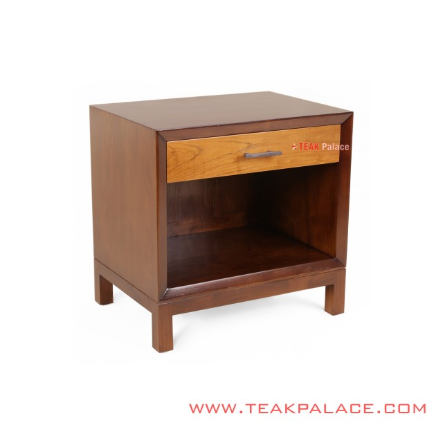 Nightstand Altama Salak Brown Golden Teak Wood