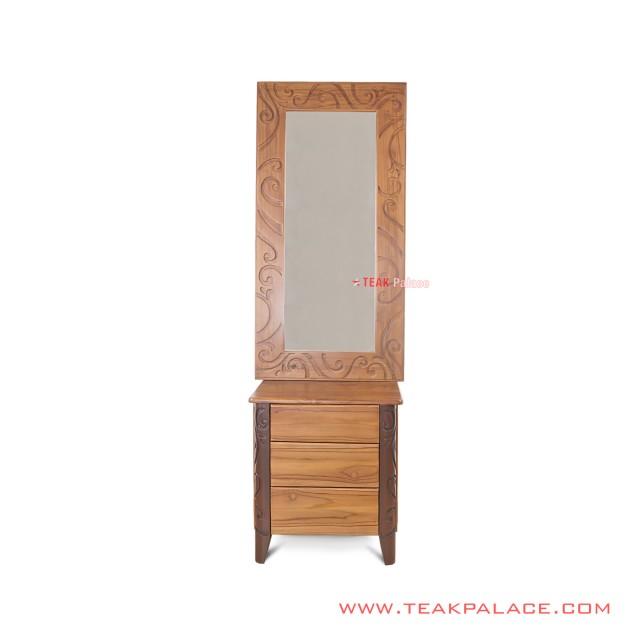 Nightstand Teak Mirror Carving Minimalist Palembang