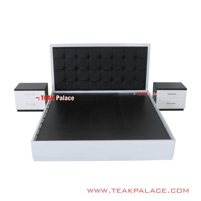 Set Dipan 2 Nakas Mewah Minimalis Black White Seri Vista