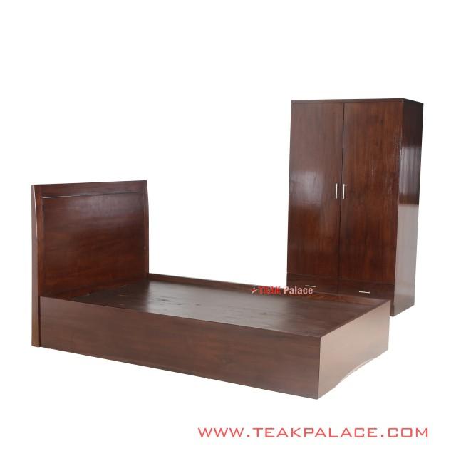 Bed Sets 2 Door Wardrobe Salak Brown Jakarta Series