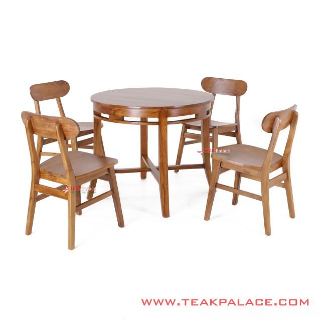 Table 4 Dining Chair Set Melia Golden Teak Doff