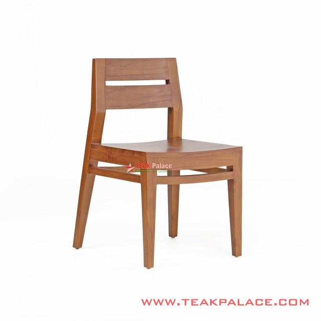 Chairs Cafe Reastaurant Minimalist Teak Series Blora