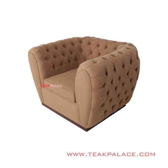 Sofa Single Divo Brown