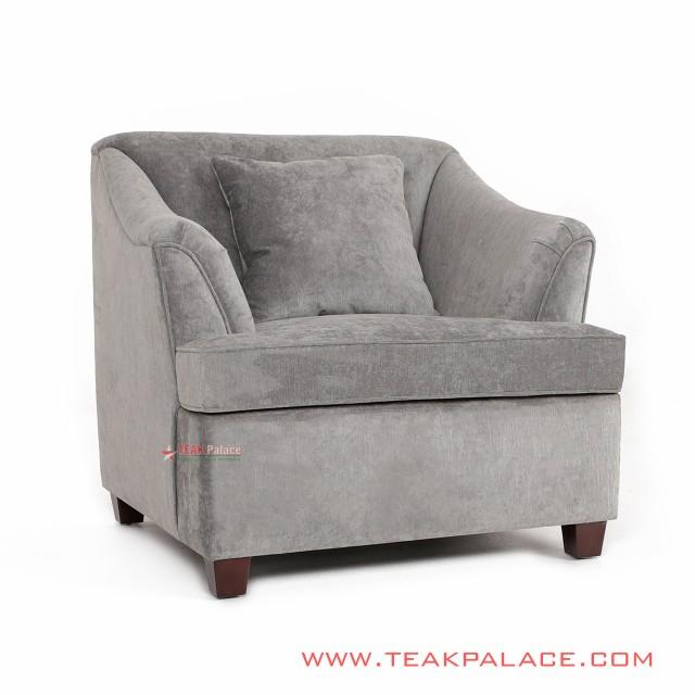 Gray Minimalist Sofa Musi Series single seater
