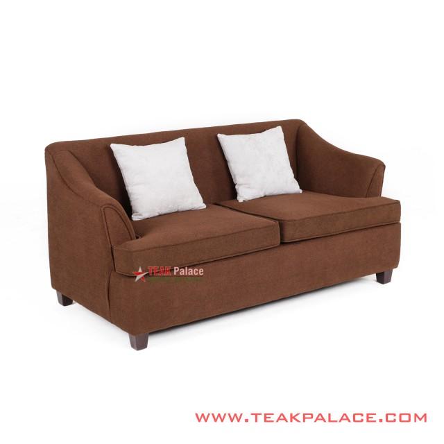 Sofa 2 Dudukan Minimali Musi Coklat