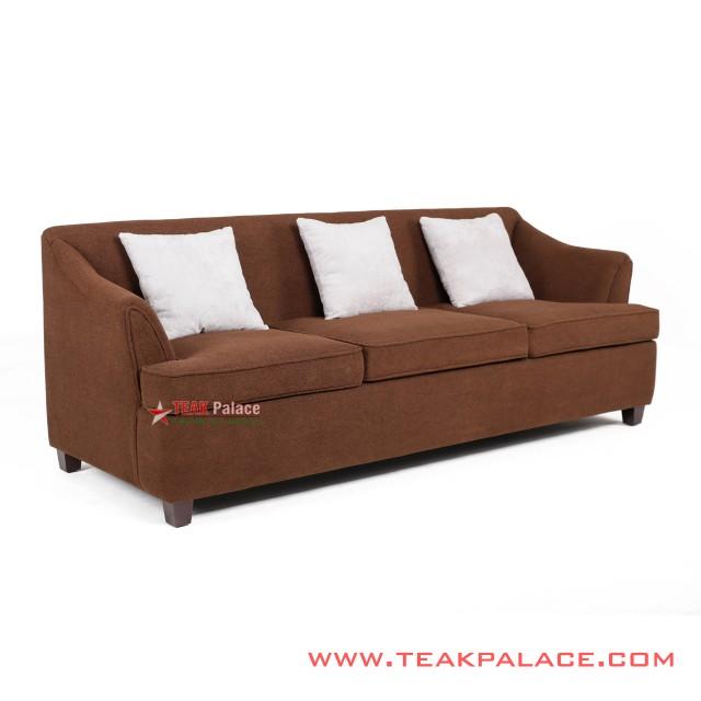 Sofa Musi Minimalis 3 Dudukan warna Coklat