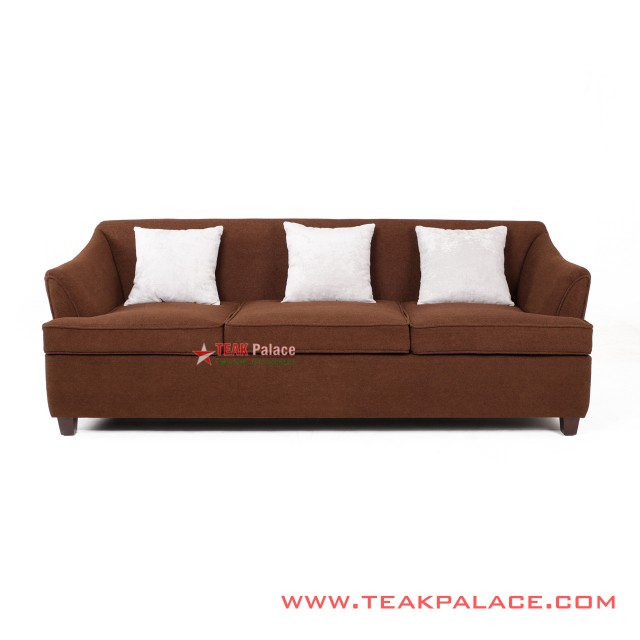 Musi Minimalist 3 Seater brown Sofa