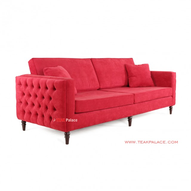 Bulgary Sofa 3 Seater Red