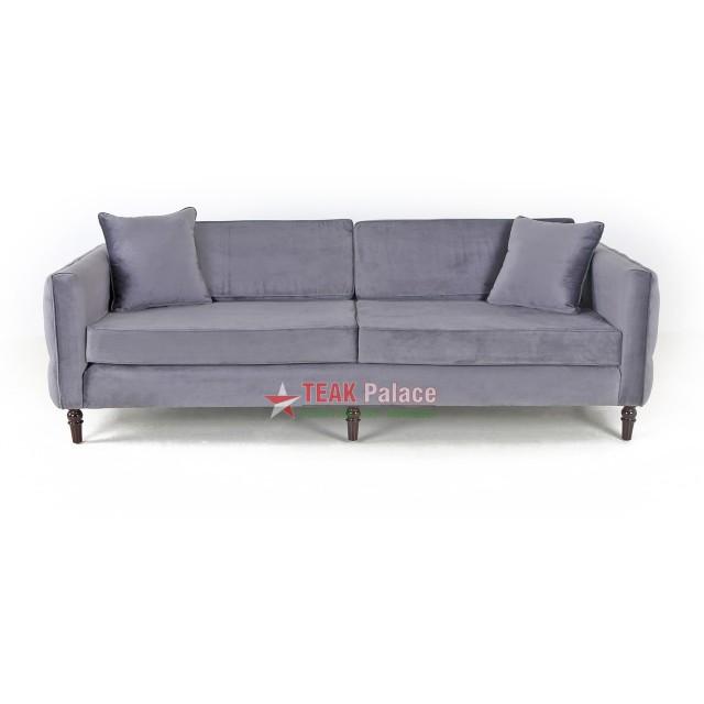 Sofa Minimalis Mewah Bulgari Abu-Abu 3 Seater