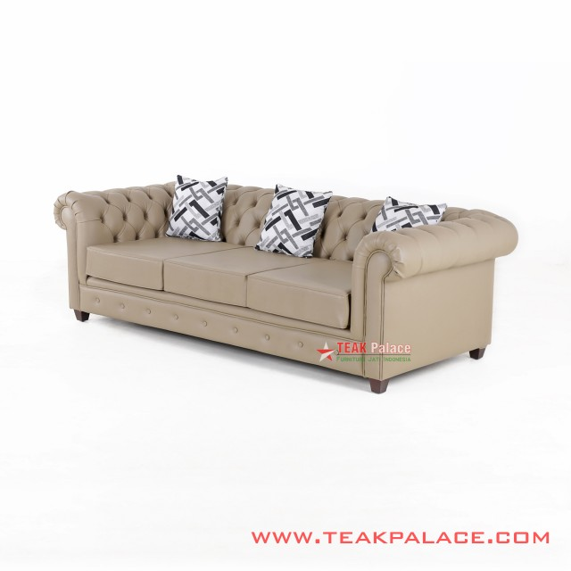 Chesterfield Leather Sofa 3 seater