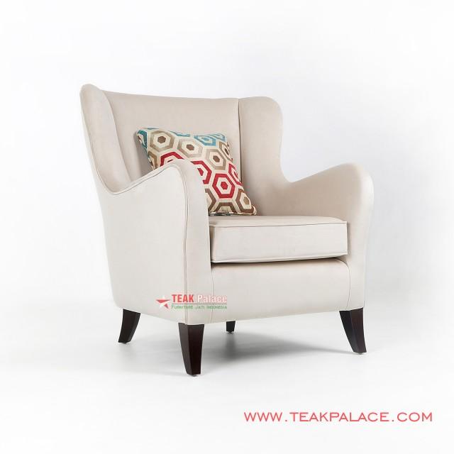 Unique Relaxing Sofa Cream Single Seater Accent
