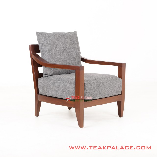 Teak Chairs Single Poppy Grey