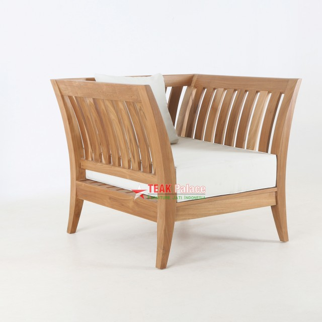 Minimalist Teak Chair Boston Series Single Seater