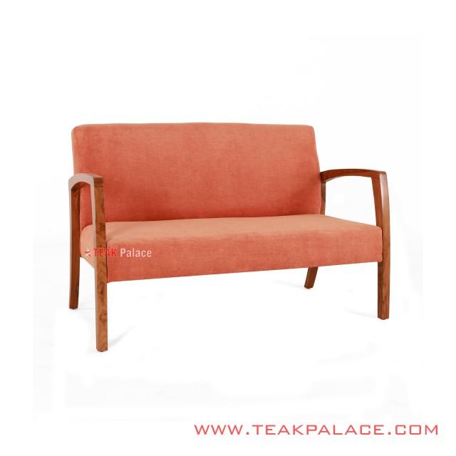 Teak Chair Vintage Legian 2 seater Orange