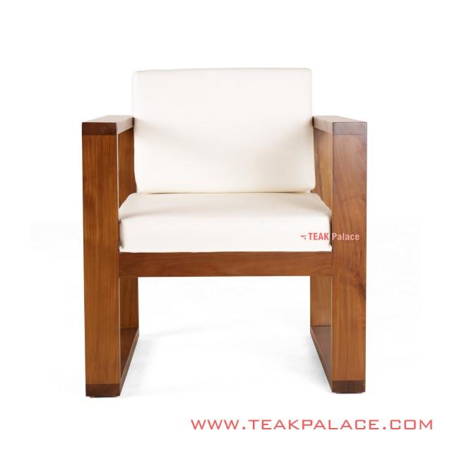 Single Armchair Kotak White