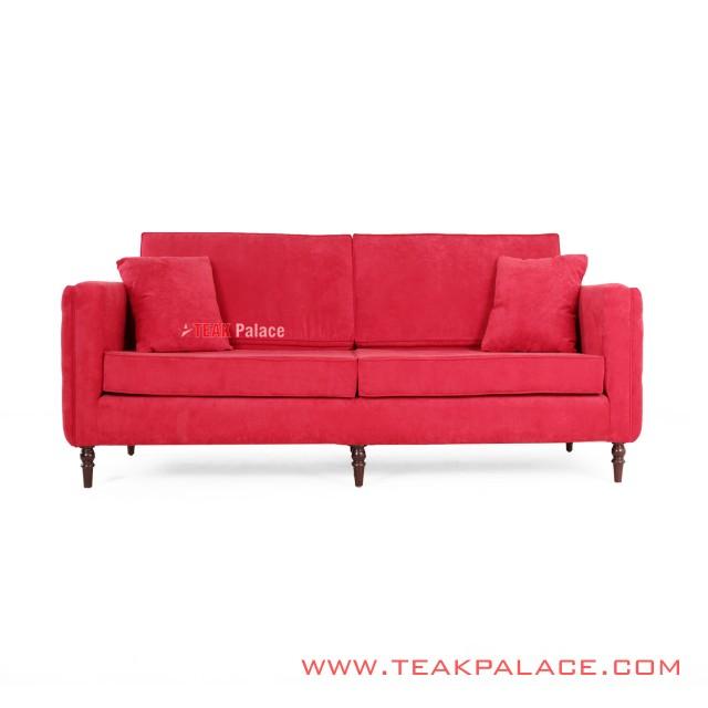 Bulgary Sofa 3 Seater Red